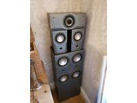 Magnat 200w 5.1 Surround sound speakers