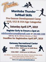Softball Skills Camp girls ages 8-14
