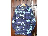 Camouflage fleece hoody - 44inch chest
