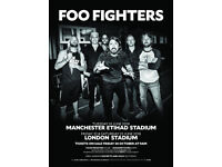 Foo Fighters Tickets x 2 - Standing, London - Friday 22nd June 2018