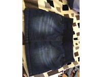 Maternity Denim Skirt size 10