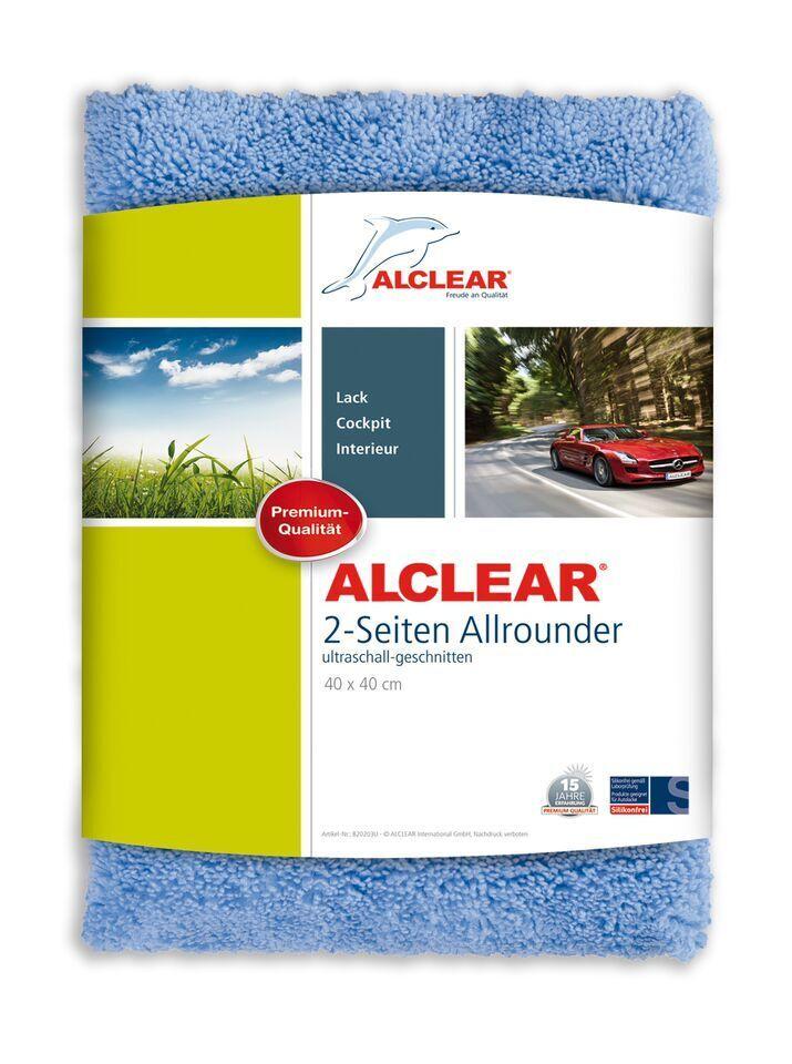 ALCLEAR® Ultra-Microfasertuch 2-SEITEN ALLROUNDER blau 40x40 cm 820203U