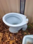Toilet and Basin Retro Blue Ingle Farm Salisbury Area Preview