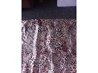 leopard print curtains