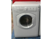 M598 white hotpoint 7kg 1400spin washer dryer comes with warranty can be delivered or collected