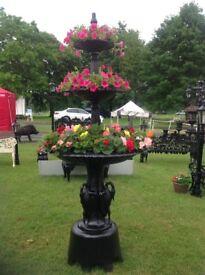 Large heavy cast iron fountain (garden patio furniture)