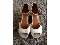 River Island White Wedge