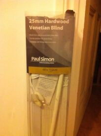 Brand new Paul Simon-Real wood white Venetian blinds