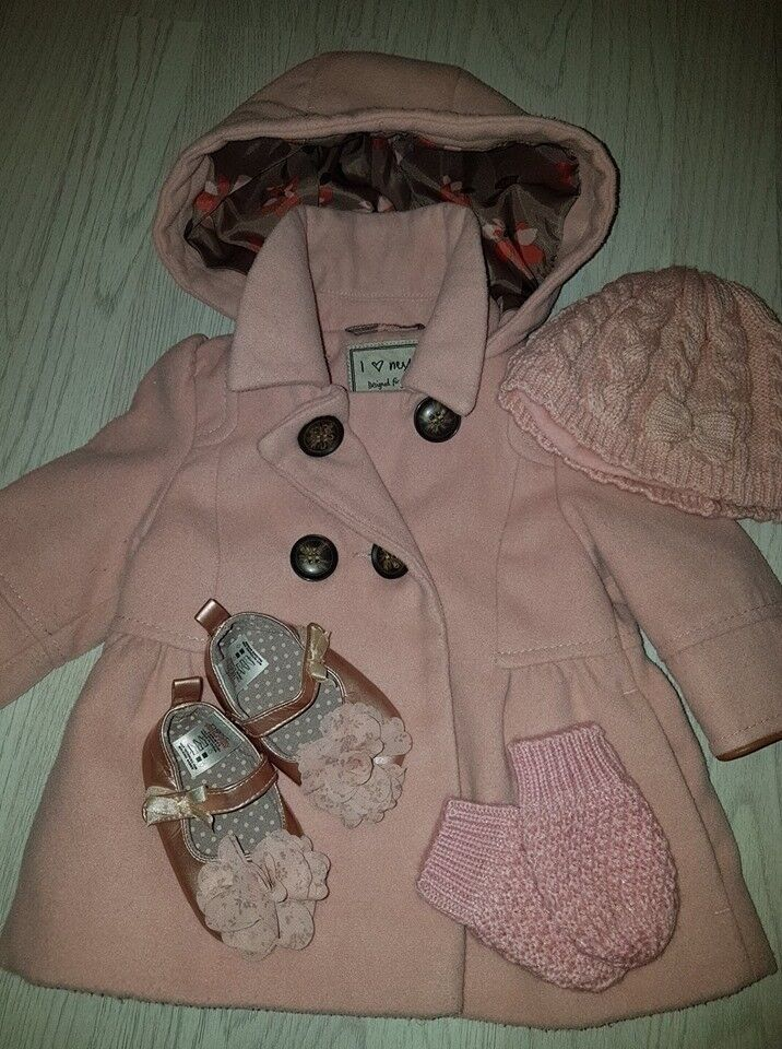 6f22aaa1a8d4 Baby   kids Next Baby Girls Coat with Xtras 3-6 Months