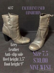 Size 7.5 grey booties