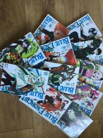 Selection of manga books.