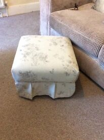 Pretty footstool / small coffee table