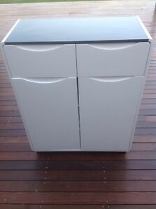 Gloss white and black sideboard/cupboard Belrose Warringah Area Preview