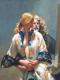 Robert Lenkiewicz Limited Edition Giclee Print on Canvas. Framed Certificate Of Authenticity.