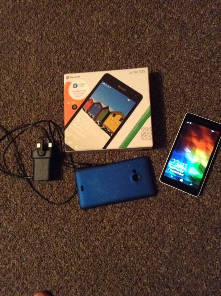 Microsoft lumia 535in Lymington, HampshireGumtree - Microsoft lumia 535 great condition basically brand new no scratches or dents comes with box charger and the phone itself