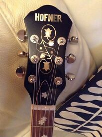 no longer for sale---------------Hofner Colorama- With P90s -Jet black