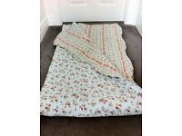 Laura Ashley quilted bedspread/eiderdown/throw. cottage chintz, floral, country, farmhouse, vintage