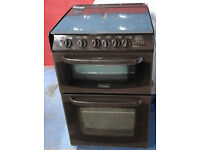 Z580 brown cannon 55cm double oven gas cooker comes with warranty can be delivered or collected