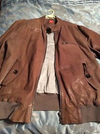 Genuine men's Boss leather jacket