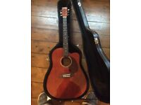 TNA Acoustic Guitar w/ Hard Case