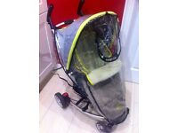 Rain cover for pram buggy stroller, fits Petite Zia Star, Quinny Zapp and similar LIKE NEW