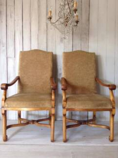 'Classic' Trilogy Dining Chairs / Carver Chairs x6 Butler Wanneroo Area Preview