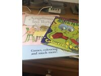 New Angelina's tea party & activity book & wobbly eyes aliens colouring book