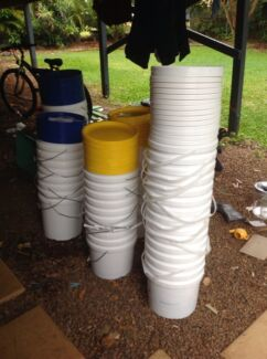 BUCKETS ..SEALABLE LIDS ..3 Sizes!!!!