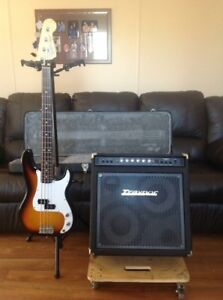 Fender precision bass and Dyna Bass 200T
