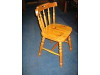 Single Pine Chair