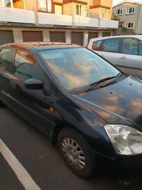 Honda Civic 2001 Automatic - got MOT and road tax 5 door ONO