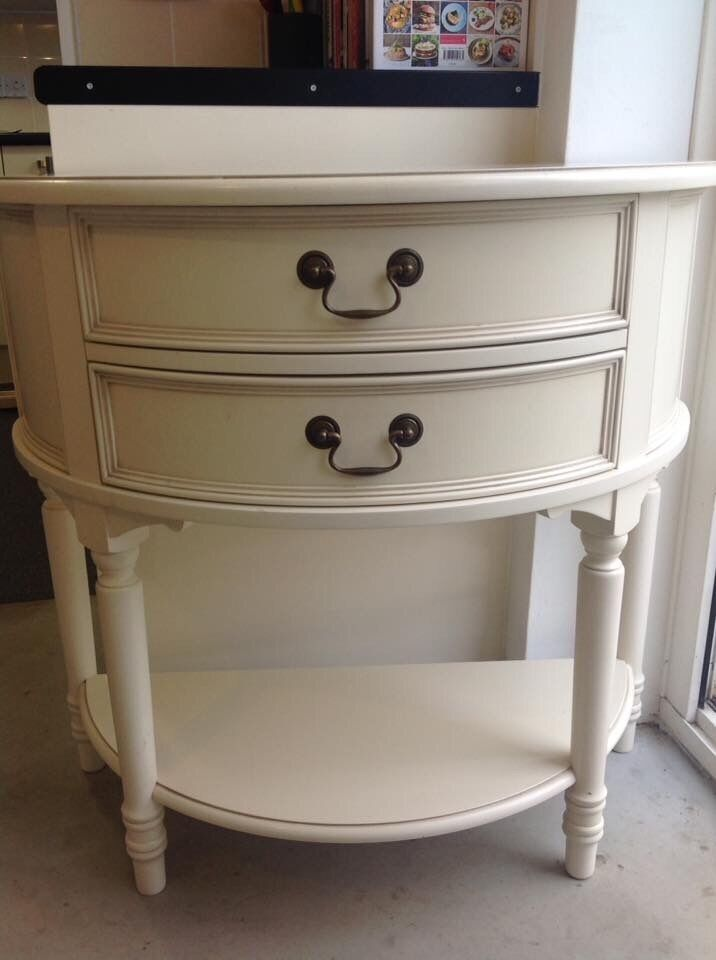 laura ashley clifton half moon drawers bedside table ornate in crawley west sussex. Black Bedroom Furniture Sets. Home Design Ideas
