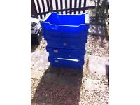 10 Blue Crates - Stackable