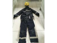 Adult Fireman suit with helmet