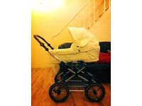 Babystyle Lux white leather Pram