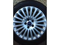 Ford Focus Alloys and Tyres 20 Spoke 5 X 108 PCD