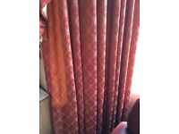 John Lewis Bespoke Thermal and Black out Lined Curtains - Terracotta and God