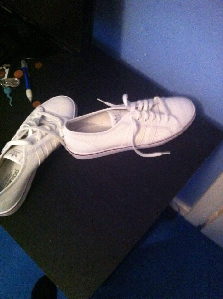newest f544f f7c89 Mens size 12 white Adidas Nizza LO worn once ex condition