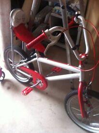 """18"""" girls bicycle red and white like new"""