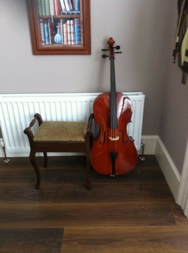 Cello with case for sale, never been used.