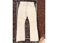 WHITE LEVI'S 555 W30 L32