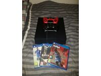PLAYSTATION 4(2 controllers,4 games) + 41'' SAMSUNG HD TV