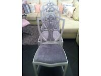 4 Solid Victorian Dining chairs (Up-Cycled)
