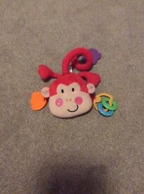 Fisher price pink musical monkey