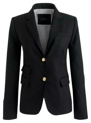 $198 J.Crew Wool Schoolboy Blazer in Black size 8 Item 05157 EUC!