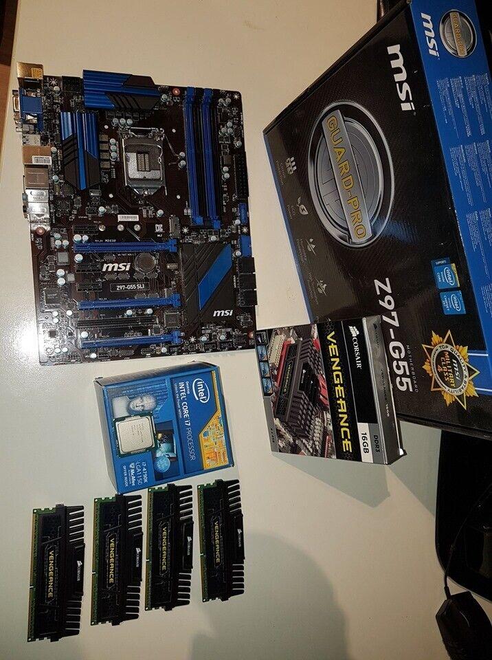 Intel i7 4790k + MSI Z97-G55 + 16 GB Corsair Vengance   in Wrexham   Gumtree