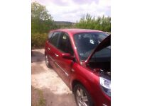 renault scenic 1.5dci e6 106hp spares or repairs