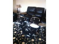 Performance percussion drum kit.