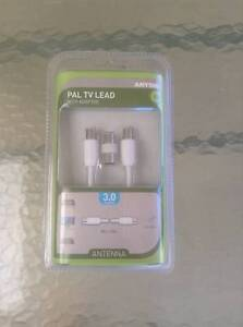 PAL TV LEAD WITH ADAPTOR Rockingham Rockingham Area Preview