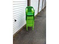 14 kids plastic chairs